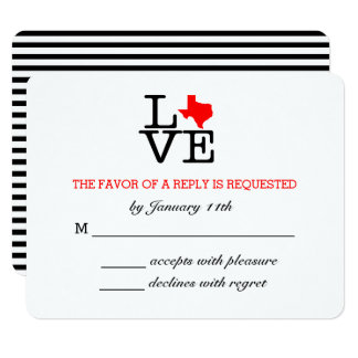 Texas Love Wedding Response Card