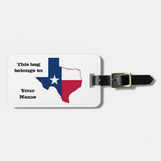 Texas Luggage Tag
