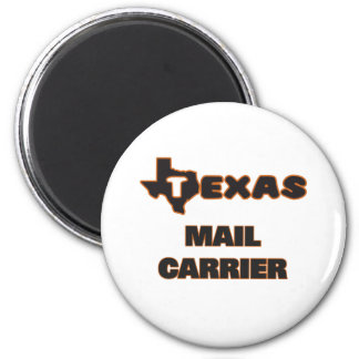 Texas Mail Carrier 6 Cm Round Magnet