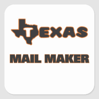 Texas Mail Maker Square Sticker