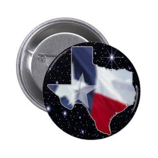 Texas Map 6 Cm Round Badge