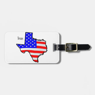 Texas Map and Flag Luggage Tag