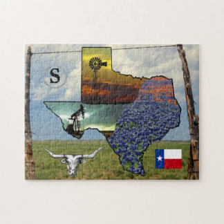 Texas - map, colorful photos 11x14 size jigsaw puzzle