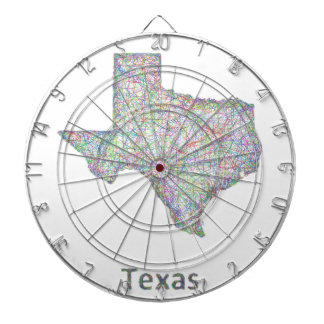Texas map dartboard