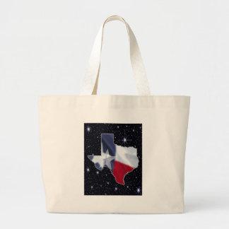 Texas Map Large Tote Bag
