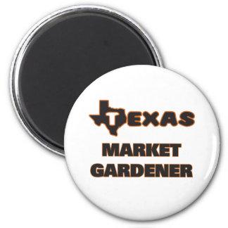 Texas Market Gardener 2 Inch Round Magnet