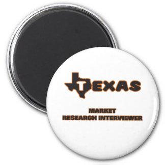 Texas Market Research Interviewer 2 Inch Round Magnet