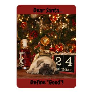 Texas Mastiff puppy christmas card