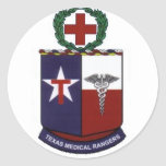 texas medical Rangers round decal Round Stickers