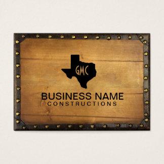 Texas Monogram Logo Vintage Leather & Wood