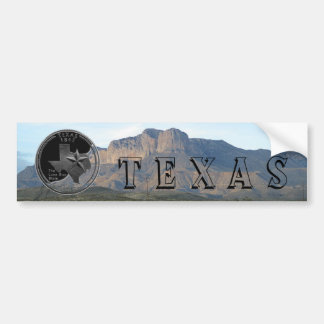 Texas Mountains Bumper Sticker