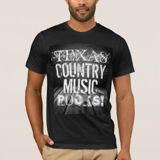 Texas Music Rocks Basic Black T-Shirt