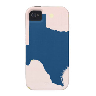 Texas Navy Blue Pink Gold Vibe iPhone 4 Cover