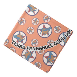 Texas Panhandle Good Dog Logo Print Bandana