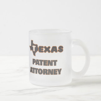 Texas Patent Attorney 10 Oz Frosted Glass Coffee Mug
