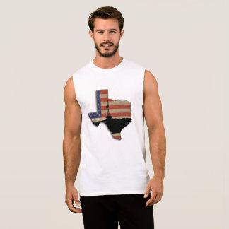Texas Patriotic Oil Drilling Rig Sleeveless Shirt