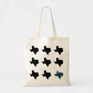 Texas Pattern with Bluebonnets Tote Budget Tote Bag