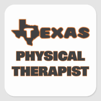 Texas Physical Therapist Square Sticker
