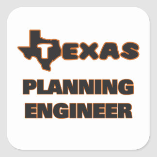 Texas Planning Engineer Square Sticker