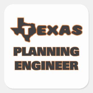 Texas Planning Engineer Square Sticker