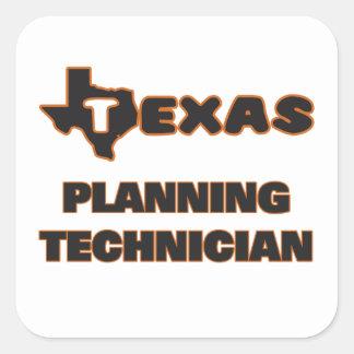 Texas Planning Technician Square Sticker