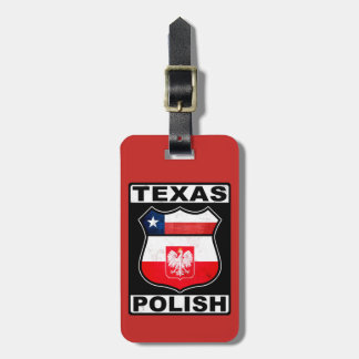 Texas Polish American Luggage Tag Template