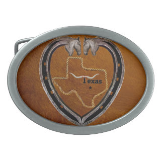 TEXAS PRIDE OVAL BELT BUCKLES