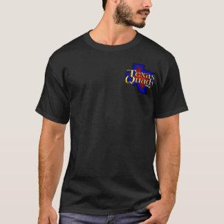Texas Quads Logo Stacked - Black T-Shirt