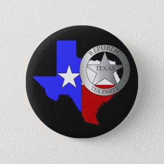 Texas Ranger Tea Party - Black 6 Cm Round Badge