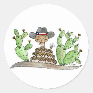 Texas Rattlesnake Classic Round Sticker