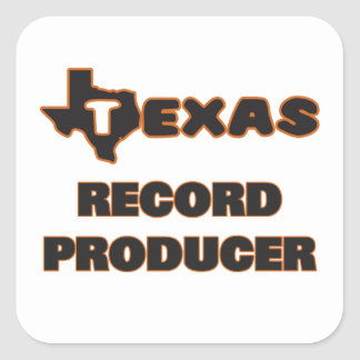 Texas Record Producer Square Sticker