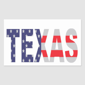 Texas Rectangular Sticker
