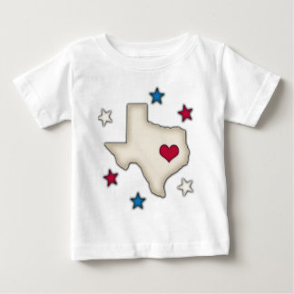 Texas Red Heart Baby T-Shirt