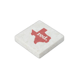 TEXAS RED STATE STONE MAGNET
