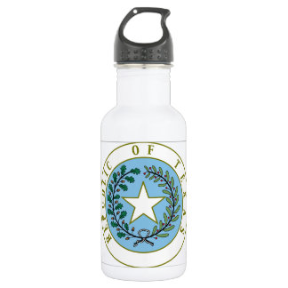 Texas (Republic of Texas Seal Color) 532 Ml Water Bottle