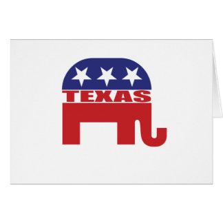 Texas Republican Elephant Card