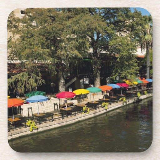 Texas, Riverwalk, dining on river's edge Beverage Coasters