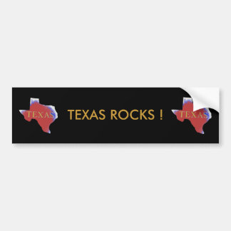 texas rocks bumper sticker