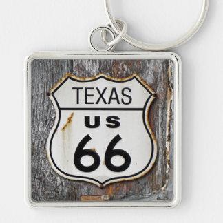 Texas Route 66 Key Ring