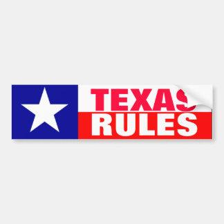 Texas Rules Bumper Sticker
