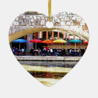 TEXAS - SAN ANTONIO 2 CERAMIC HEART DECORATION