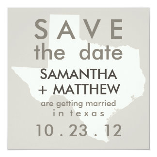 Texas Save the Date Cards
