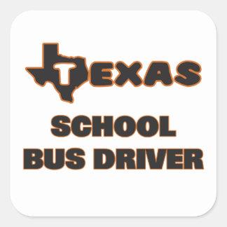 Texas School Bus Driver Square Sticker