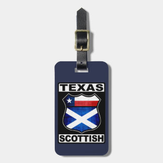 Texas Scottish American Luggage Tag Template