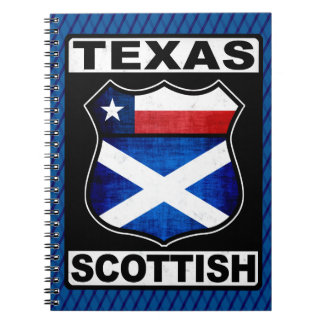 Texas Scottish American Notepad Spiral Notebook