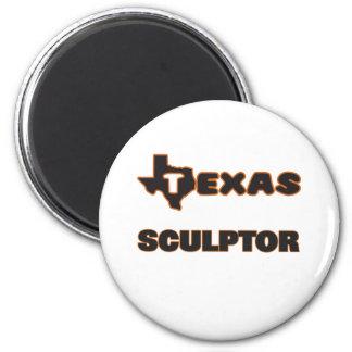 Texas Sculptor 2 Inch Round Magnet