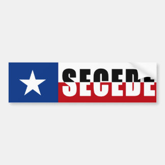 Texas - Secede Bumper Sticker