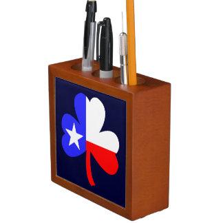 Texas Shamrock Desk Organiser