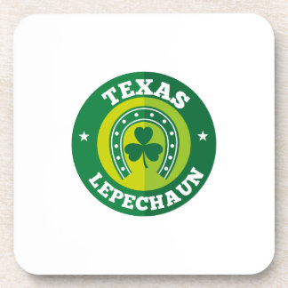 Texas Shamrock Leprechaun St. Patrick's Day Funny Coaster