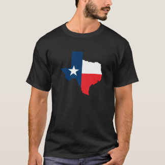 Texas Shape with Flag T-Shirt